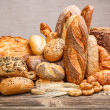 Stock Photo: Variety of bread
