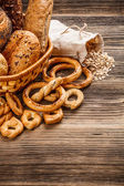 Verse knapperige broodje — Stockfoto