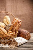 Basket of bread — Stock Photo