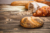 Roll with poppy seed — Stock Photo