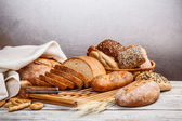 Collection of baked bread — Stock Photo