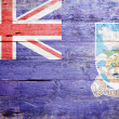 Flag of the Falkland Islands - Stock Photo