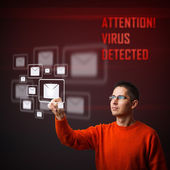 Virus warning message — Stock Photo