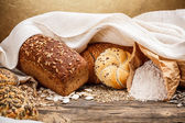 Traditional bread and bun — Stok fotoğraf