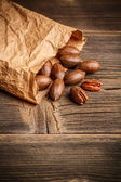Tasty pecan nuts — Stock Photo