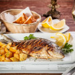 Grilled dorada — Stock Photo