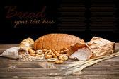 Martwa natura z krojonego chleba — Zdjęcie stockowe