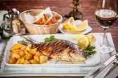 Grilled dorada — Stock Photo