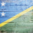 Flag of the Solomon Islands — Stock Photo