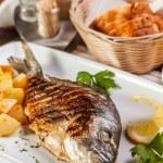 dorado balığı ızgara — Stok fotoğraf
