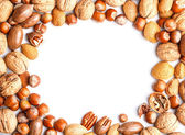 Frame with nuts — Stock Photo