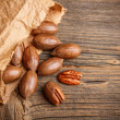 Pecan nut — Stock Photo