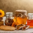 Honey and pollen - Stock Photo