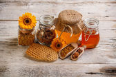 Composition of honey — Stock Photo
