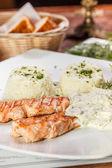 Roasted salmon — Stock Photo