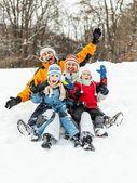 Familjen ha roligt — Stockfoto