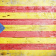 Flag of Catalonia — Stock Photo