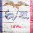 Flag of Iowa — Stock Photo