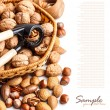 Stock Photo: Varieties of nuts