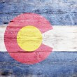 Flag of the state of Colorado - ストック写真