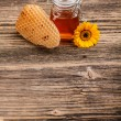 Stock Photo: Jar of honey