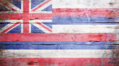 Flag of the state of Hawaii — Stock Photo