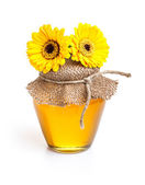 Jar of honey — Stockfoto