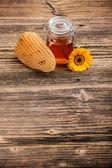 蜂蜜の瓶 — ストック写真