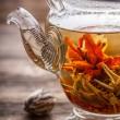 Flowering tea — Stock Photo