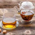 Blooming green tea — Stock Photo