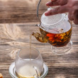 Flowering tea - Stock Photo