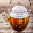 Stock Photo: Flowering tea