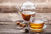 Blooming tea — Stock Photo