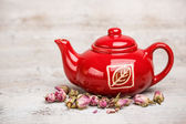 Red teapot — Stock Photo