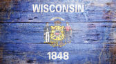 Flag of the state of Wisconsin — Stock Photo
