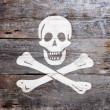 Flag of piracy — Stock Photo