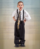αγόρι σε ένα επαγγελματικό κοστούμι — Φωτογραφία Αρχείου