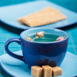Blue tea cup — Stock Photo