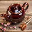 Brown teapot — 图库照片