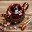Stock Photo: Brown teapot
