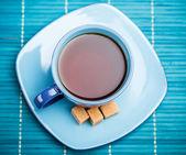 Blue tea cup — Stock Photo