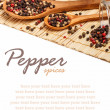 Colorful peppercorns — Stock Photo #21530005