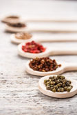 Green peppercorns — Stock Photo