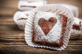 Chocolate brownies — Stock Photo