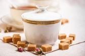 Açucareiro de porcelana — Foto Stock