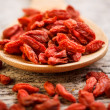 Red dried goji berries — Foto Stock #22057557