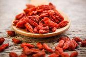 Röda torkade goji bär — Stockfoto