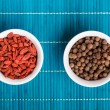 Stock Photo: goji berries and allspice