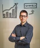 Strategi affärsidé — Stockfoto