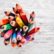 Various colour pencils — Stock Photo #22287129